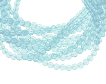 Alexandrite 8mm Round Glass Beads - Full 16 inch strand - Approximately 54 beads
