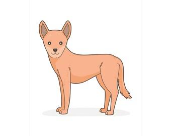 Australian Dingo print