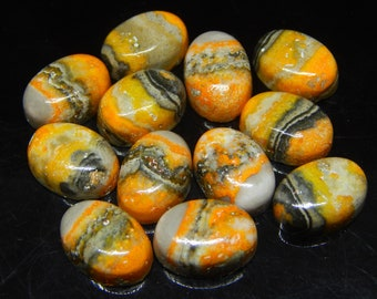 5 pc 10x14 mm Bumble Bee Jasper Gemstone for Jewelry Making,Collectibles , Gift