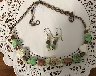 Natural Copper and Stone necklace