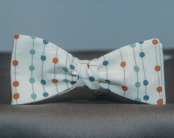Colorful Jilly Dots on Lines  Bow Tie
