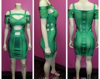 Money Green bandage Dress