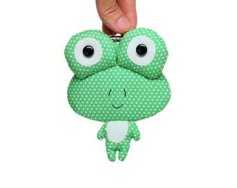 Kleine grüne Frosch Kupplung Geldbeutel