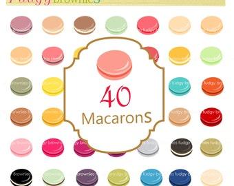 Macaron clip art, french macaron clip art ,digital scrapbooking Clipart, instant download