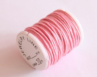 spool cotton 1 mm, special jewelry, light pink, 10 m