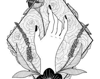 The Hand, art print