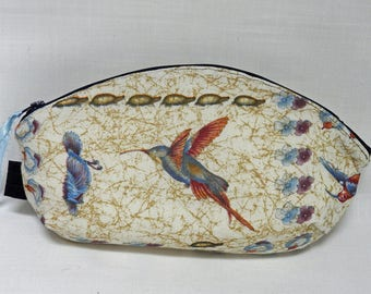 Hummingbird Curved Pouch OOAK