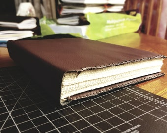 Hardcover Faux Leather Sketchbook in Burgundy