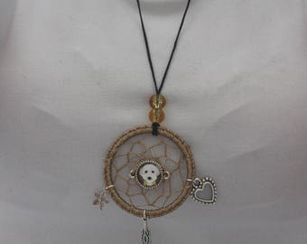 Dog Dreamcatcher necklace