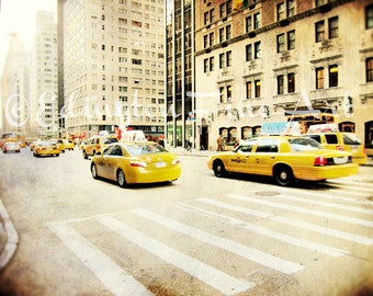 Taxi photo New York Taxi print Car photo New York City Photo NYC Taxi Cab New York Cabs Yellow Taxi Cab Yellow Cars NYC Cab Photography