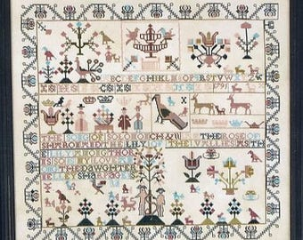 Nelley Sharp 1791 Adam & Eve Reproduction Sampler  by Samplers Revisited Counted Cross Stitch Pattern/Chart