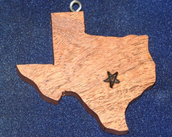 Mesquite Texas ornament with burned star
