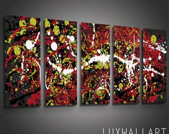 Abstract Metal Wall Art Pollock 4
