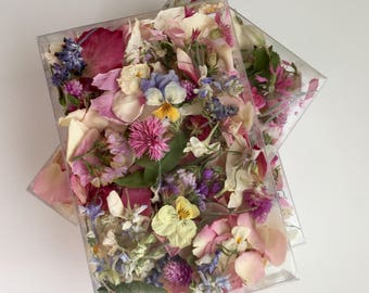 Dried Flowers, Wedding Confetti, Tossing Flowers, Petal Confetti, Table Decor, Craft Supply,  Biodegradable, Flower Girl, 2 Boxes or Bags