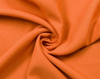 """Orange 60"""" Poly Crepe Fabric by the Yard - Style 3060"""