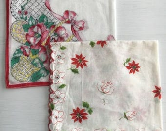 Set of vintage handkerchiefs