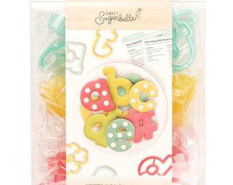 Alphabet Cookie Cutter Set   Sweet Sugarbelle Alphabet Cookie Cutters   Letter Cookie Cutters   Fondant Cutter