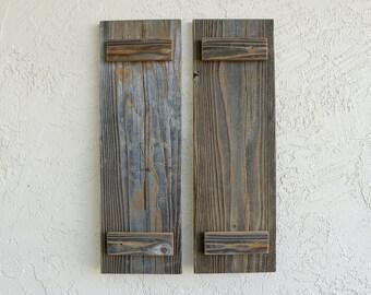 Rustic Shutters. Set of 2. Wooden Door Shutters. Barn Doors. Rustic Wooden Decor. Farmhouse Decor. Shutters Wall Decor. Outdoor or Indoor. M