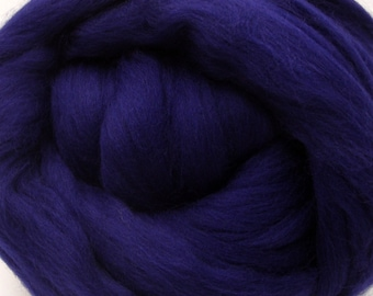 4 oz. Merino Wool Top - Nautical Blue - Ships Free