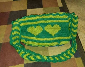 Two Hearts Messenger Bag