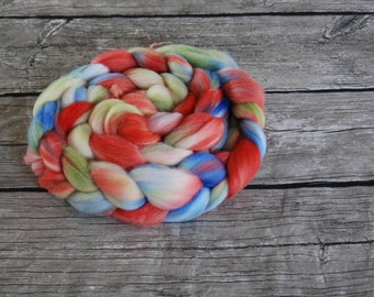 You Know How to Whistle, Don't You? - Hand Dyed Polwarth Roving - 4 oz Spinning Fiber