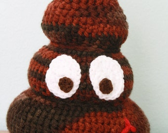 Poop Toy, Stuffed Toy, Crochet Poop, Gag Gift, Holiday Gift, Plushies,Turd, Men, Women, Boys, Girls, Funny Gift, Amigurumi, Crappy Toy