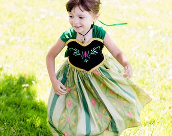 Princess Anna Coronation Dress - Frozen Princess Anna Costume - Princess Anna Dress - Frozen Costume - Disney dress girls 1 2 3 4 5 6 7 8