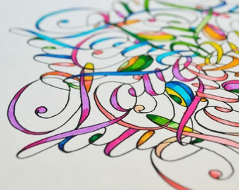All You Need Is Love - Mandala Coloring Page - Instant Download PDF