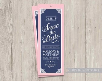 Save the Date Bookmark, Literary Save the Date, Book the Date | Save the Date