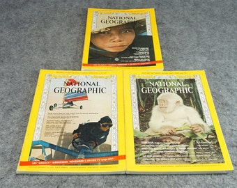 National Geographic Magazine 1967 Three Issues Months 2,3,11