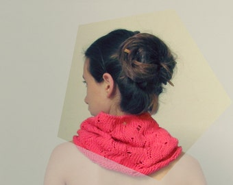 Coral pink scarf / Cotton scarf / Pink neckwarmer / Romantic clothing