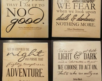 Harry Potter Quote Coasters