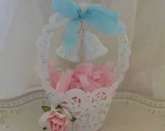 Mother's Day Decoration Shabby Chic Tattered Nut Cup for Mother's Day Gift