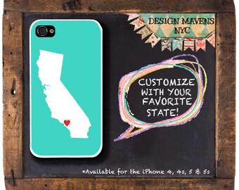 California Love iPhone Case, Personalized iPhone Case, iPhone 8, 8 Plus, iPhone 7, 7 Plus, iPhone 6, 6s, 6 Plus, SE, iPhone 5, 5s, 5c, 4