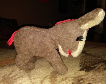 Vintage stuffed donkey or mule