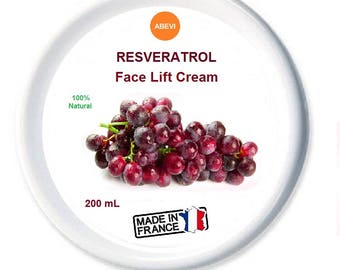 Resveratrol Face Lift Cream - 200 mL -  Made in France