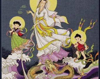 PINN Collection Cross Stitch Pattern. Chinese Goddess of Mercy. 10712.