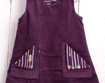 Reversible pinafore dress 3-4 years