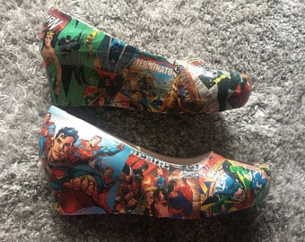 DC Comic Book Shoes
