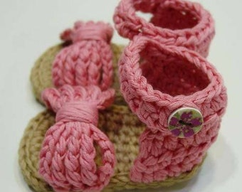 Baby girl, crochet sandals hand made