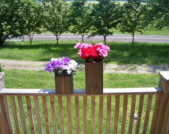Decorative Flower Pots, Deck Flower Pots, Decorative Centerpiece, Indoor Flower Pots, Outdoor Flower Pots, Country Center Piece,