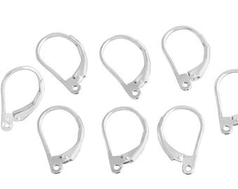 5 Pairs 16x8.5 mm Sterling Silver Leverback Plain (SS4003709)