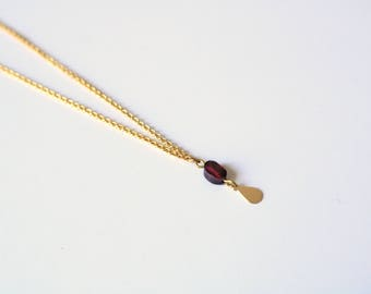JAO necklace [silver plated and brass;] Garnet]