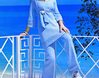 Vintage 1960s Knitting Crochet Patterns Dresses Suits Pantsuit Boleros Coats Jackets Stole PDF e-Book Digital Download Resort Fashions