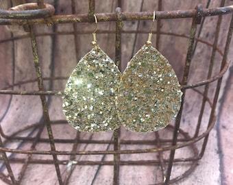 Gold Glitter Earrings