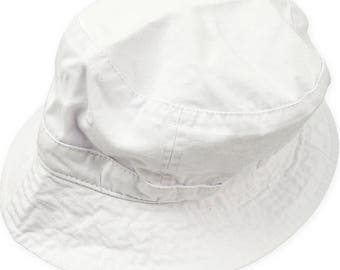 WHITE XL BUCKET Hat - Women or Men Adams Cap - Price Apparel Embroidery - 10 Different Colors