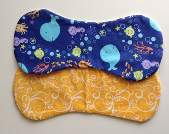 Whale Watching Burp Cloths