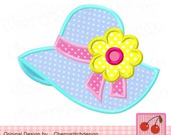 Sunbonnet,Summer hat, Sunhat ,Summer Machine Embroidery Applique Design SUM012-4x4 5x5 6x6 inch