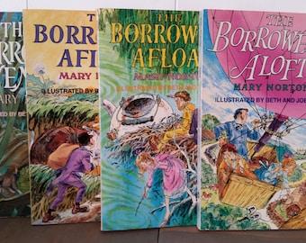 Vintage Books..Borrowers Books..Borrowers Aloft..Borrowers Afloat..Borrowers Afield..Borrowers Avenged..Summer Reading..Mary Norton..