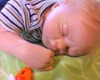 100.00 OFF for Father's Day Reborn Baby Dakota, by Heather Boneham by RebornArtist Jeanne Marie of Jeannie Babies Nurseries